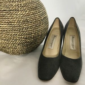 Etienne Aigner Dreamer Grey Fabric Heels